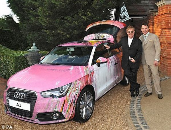 damien hirst painted audi a1